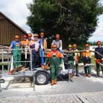 Gemeinsam geübt - Feuerwehr und Bauhof